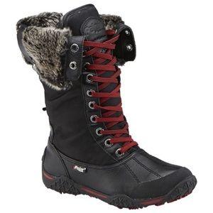 Pajar Canada mid calf Black Fur Winter Snow Boots Size 37/6-6.5